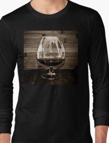 Cognac and Bamboo Long Sleeve T-Shirt