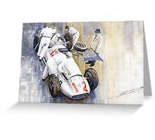 1939 German GP MB W154 Rudolf Caracciola winner Greeting Card