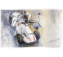 1939 German GP MB W154 Rudolf Caracciola winner Poster