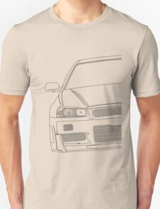 R34 outline - black Unisex T-Shirt