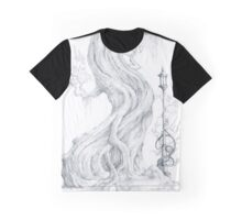 Old Tree and Lamp Graphic T-Shirt