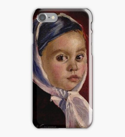 Child with Headwrap iPhone Case/Skin