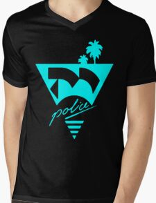 Moonbeam City POLICE LOGO Blue T-Shirt