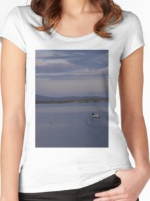 White Boat  Sunset- Burtonport - Donegal -  Ireland Women's Fitted Scoop T-Shirt