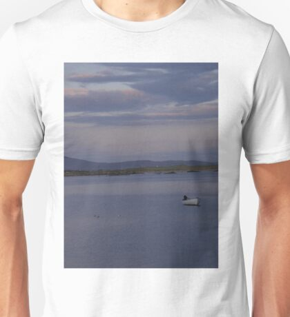 White Boat  Sunset- Burtonport - Donegal -  Ireland Unisex T-Shirt