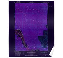 USGS Topo Map Washington State WA Oman Ranch 242956 1949 24000 Inverted Poster