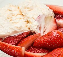 Strawberries and Ice cream by franceslewis