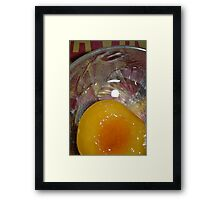 Peach Perfection  Framed Print