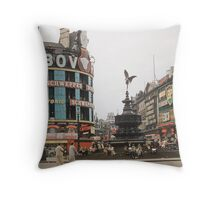 Eros Picadilly Circus London 19570827 0002 Throw Pillow