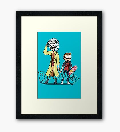 Doc and Marty Framed Print
