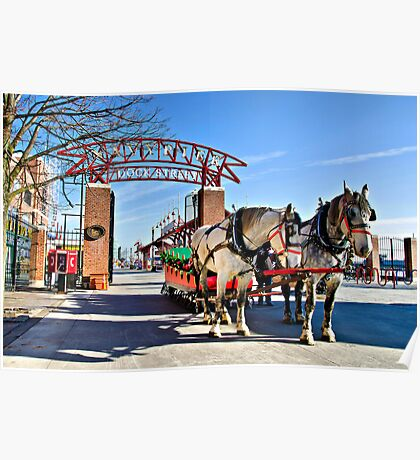 The Navy Pier Christmas Sleigh Poster