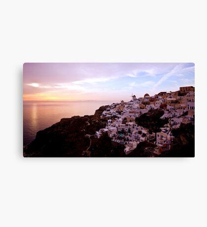 Oia Sunset - Santorini Canvas Print