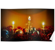 Ornaments and Candles Poster