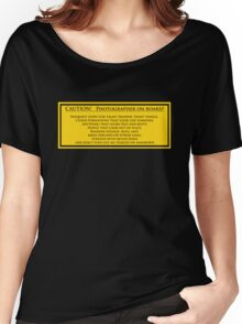 Photographer On Board Women's Relaxed Fit T-Shirt