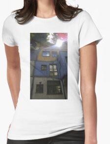 Hundertwasserhaus Vienna, Austria Womens Fitted T-Shirt
