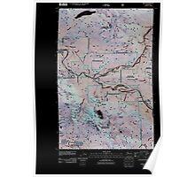 USGS Topo Map Washington State WA Index 20110428 TM Inverted Poster
