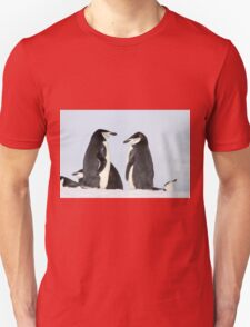 Chinstrap penguins (Pygoscelis antarctica). These birds feed almost exclusively on krill.  Unisex T-Shirt