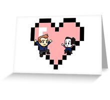 """Love in 8-bit"": Jeff and Annie (Style C) Greeting Card"