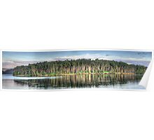 Tree Reflections - Narrabeen Lakes, Sydney Australia - The HDR Experience Poster