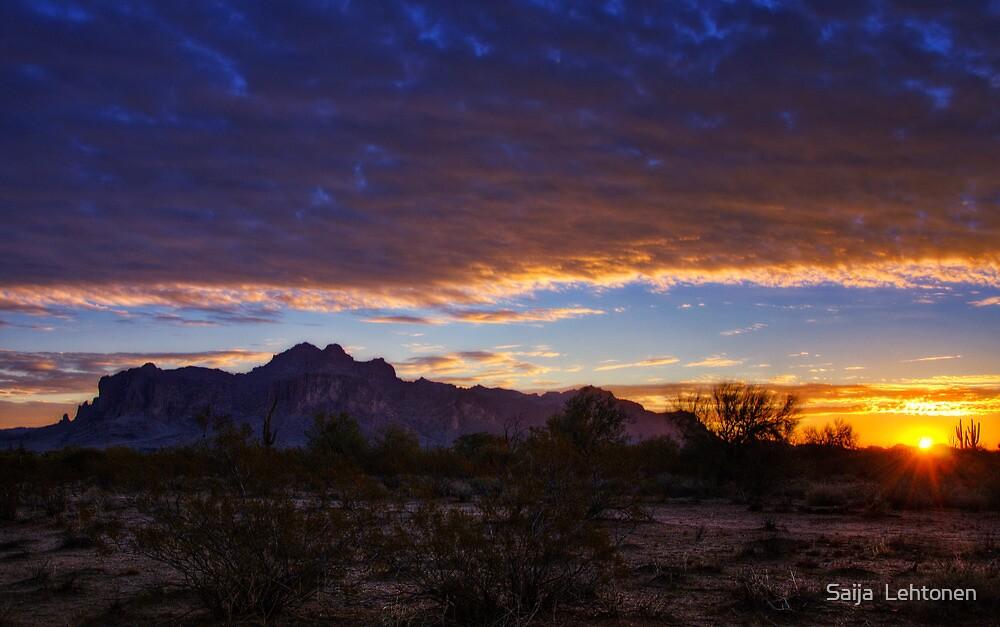 A Superstition Sunrise  by Saija  Lehtonen