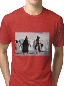 Gentoo penguins (Pygoscelis papua). Antarctica Tri-blend T-Shirt