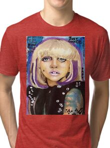 James Dean Glossy Eyes Tri-blend T-Shirt