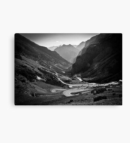 Davos to Stelvio Pass  Canvas Print