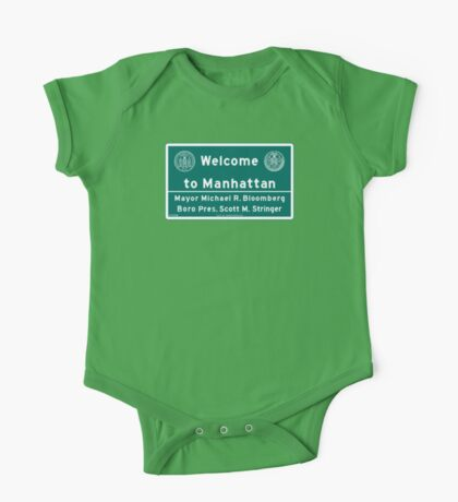 Welcome to Manhattan Sign One Piece - Short Sleeve