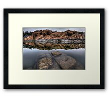 Below and Above Framed Print