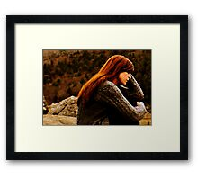 Her Sadness Was Her Beauty Framed Print