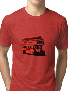 Vintage Red Double Decker London Bus Tri-blend T-Shirt