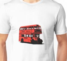 Vintage Red Double Decker London Bus Unisex T-Shirt