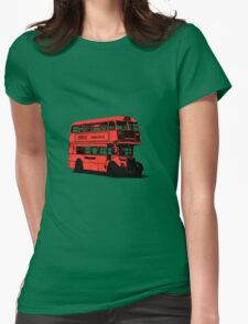 Vintage Red Double Decker London Bus Womens Fitted T-Shirt