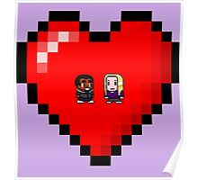 """Love in 8-bit"": Britta and Troy (Style A) Poster"