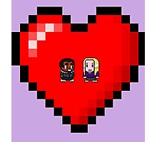 """""""Love in 8-bit"""": Britta and Troy (Style A) Photographic Print"""