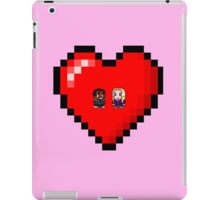 """Love in 8-bit"": Britta and Troy (Style A) iPad Case/Skin"