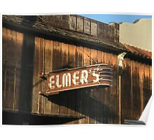 """ Elmer's Old Time Saloon ""  The Real Deal Poster"