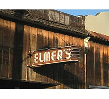 """ Elmer's Old Time Saloon ""  The Real Deal Photographic Print"