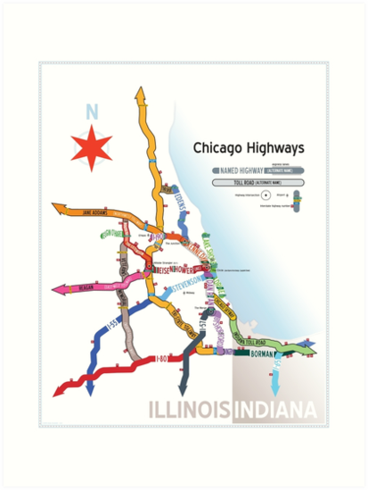 QuotChicago Highway Namesquot Art Prints By Dean Dunakin  Redbubble