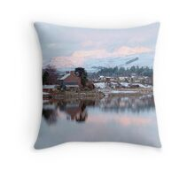 Llyn (Lake)Trawsfynydd Village, North Wales, UK, Europe Throw Pillow