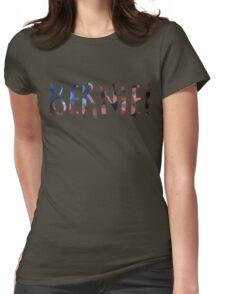 bernie sanders bokeh Womens Fitted T-Shirt