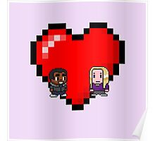 """Love in 8-bit"": Britta and Troy (Style B) Poster"