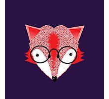 Bespectacled Cartoon Fox Photographic Print