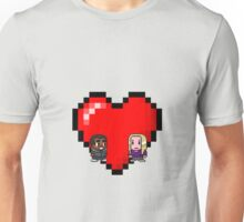 """""""Love in 8-bit"""": Britta and Troy (Style B) Unisex T-Shirt"""