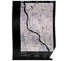 USGS Topo Map Washington State WA Ruby 20110510 TM Inverted Poster