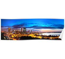 Perth City at Sunrise Poster