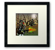 Robot Warriors in the Slime Jungles.. Framed Print