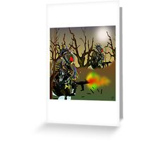 Robot Warriors in the Slime Jungles.. Greeting Card