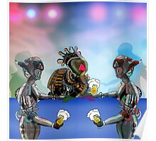 Robot Warrior Bar Scene.. Poster