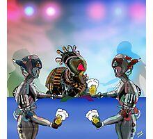Robot Warrior Bar Scene.. Photographic Print